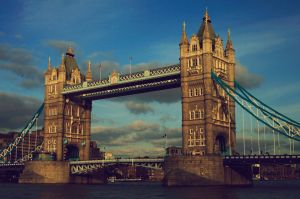 Retro Tower Bridge  - London by shhhhh-art