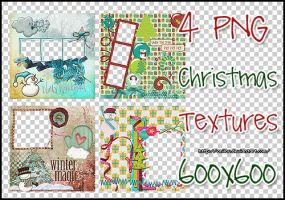 4 Christmas Textures by aNiLaU