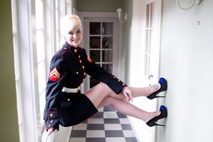 Dianna Sexy Marine pinup by Wodenphoto