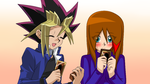 .:: Yugi x Lea - Helping for Cards ::. by RosiieChan