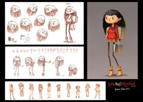 Little Red Riding Hood: character design by l3onnie