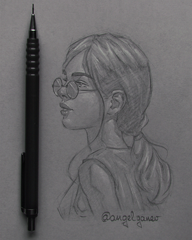 Portrait Sketch - Day #1 by AngelGanev