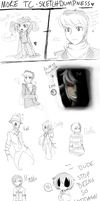 ANOTHER TC SKETCHDUMP WOO by Crazy-Daydreamer