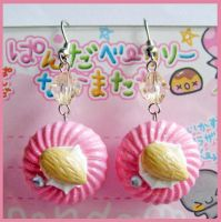 Strawberry Chocolate Earrings by cherryboop