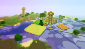 My minecraft wold by akitasilverwolf