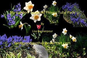 Assorted Spring Flowers Tube by FairieGoodMother