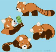red panda love by kristaia