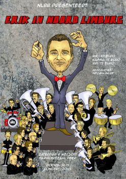 Concert poster Noord-Limburgse Brass Band by Smully