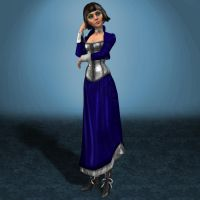 MESHMOD Elizabeth Blue Dress Demo Hair by ArmachamCorp