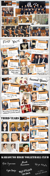 Haikyuu!! - Karasuno Scrapbook by EsteeSo