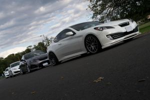 Four Hyundai Genesis Coupes by ThirdGearPhotography