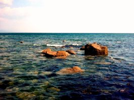 Rocky Shore by Looggs