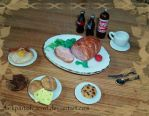 Polymer Clay Weird Breakfast by DarkPartOfCarrot
