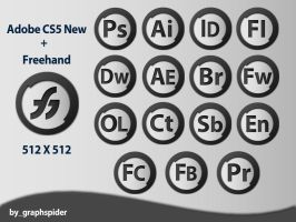 Adobe CS5 NEW - Freehand Icon by graphspider