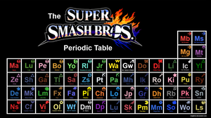 The Super Smash Bros. Periodic Table by brightrai