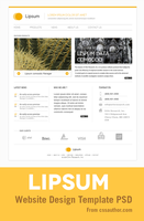 Minimal Website Design PSD Template for Free by cssauthor