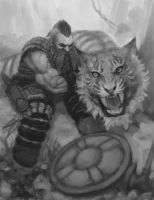 Dwarf and the tiger by meteorite8