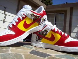 English vs. French Nike Dunks by PattersonArt