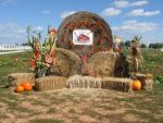 Fall Display Hay Bales Stock by CelticStrm-Stock