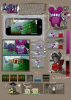 Leadin' Lilac game concept (iPhone touchscreen) by BenceBalaton