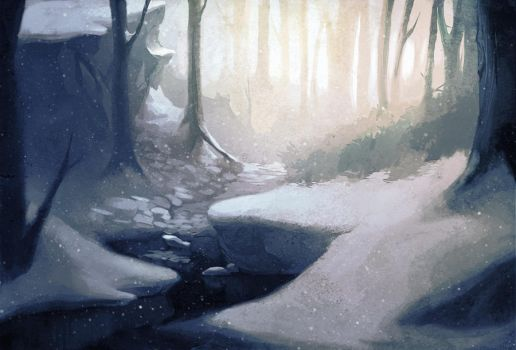 Forest fulla snow by aora