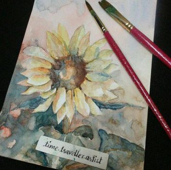 Sunflowers in watercolors by ParkashN