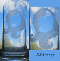 Simplistic Fluttershy Glass Engraving by SJArt117