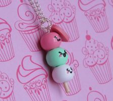 I Heart Odango Necklace by CharmingLittleFox