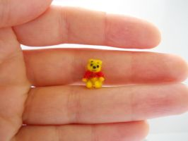 Miniature Winnie Pooh jointed teddy bear for SALE by tweebears