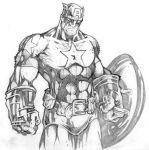 Captain America Sketch by CreatureSink