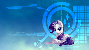 Wallpaper - Simply Rarity by SkycatcherEquestria