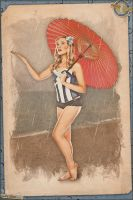 Pinups - Rainy Day by warbirdphotographer