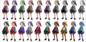 Disgaea - rouge colour schemes by princeshadow13