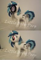 mlp Vinyl Scratch/Djpon3 plush (commission) by Little-Broy-Peep