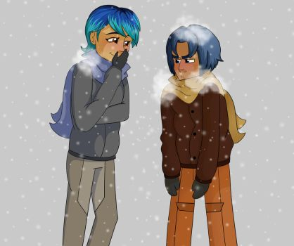 Fun in the snow by Meldy-Arts