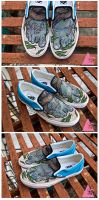 Buried at Sea Zombie Feet Shoes by mburk