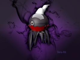 Darkrai pokeball by Sara-A2