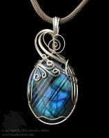 Blue Bands Labradorite by Nambroth