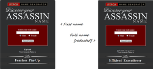 My assassin name by ShadowXveronica