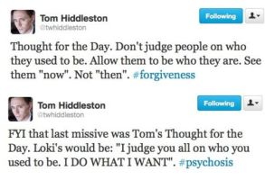 Hiddles and Loki's Wise Twiter words of the Day by RizuOfManyWolves