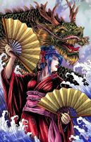 Dragon Geisha  by WiL-Woods