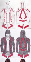 Assassin Jacket Original Design Progression by viperfan14