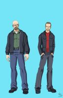 Walter White and Jesse Pinkman by phil-cho