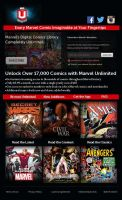 Marvel Unlimited Landing Page by KitsuneChan8888888