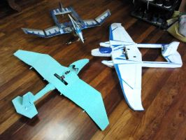 3 planes 3 materials 3 Designs 1 theme by synersignart
