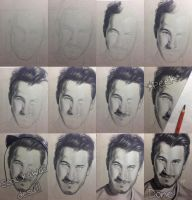Step-By-Step of Markiplier (Charcoal) by ChaoKitty