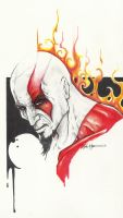 Kratos God of War by ChrisOzFulton