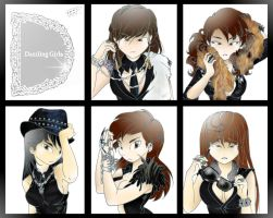 Dazzling Girls by Pulimcartoon