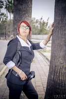 Claire Redfield cosplay RE M3D suit by Queen-Stormcloak