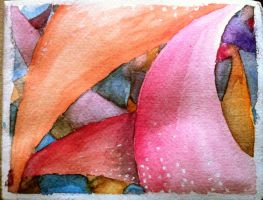 Abstract in watercolours by amoebae